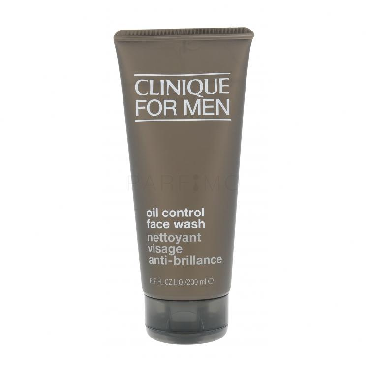 Clinique For Men Oil Control Face Wash Gel demachiant pentru bărbați